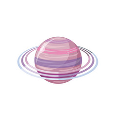 saturn planet sun system universe vector image