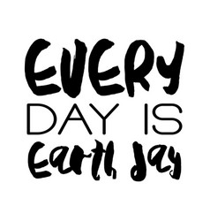 earth day concept - decorative handdrawn lettering vector image