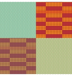 Beadwork models seamless pattern set vector