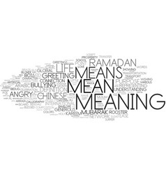 Meaning word cloud concept vector