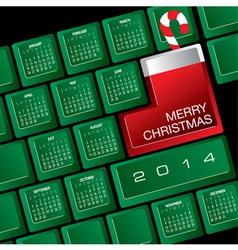 2014 christmas calendar w keyboard vector