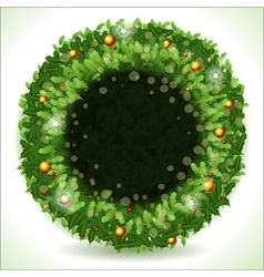 Wreath christmas with black placeholder vector