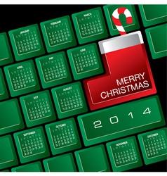 2014 christmas calendar w keyboard vector