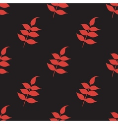 Floral seamless pattern with a leaf vector