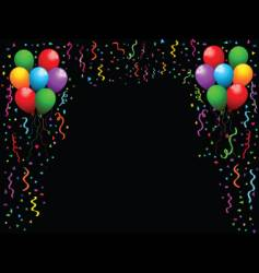 Balloons and streamers vector