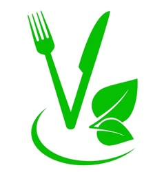 Vegetarian food sign vector