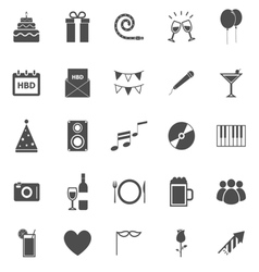 Birthday icons on white backgound vector