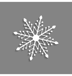 White snowflake icon isolated on dark grey vector