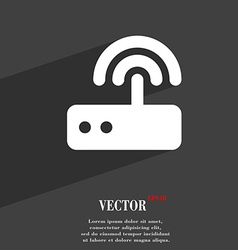 Wi fi router icon symbol flat modern web design vector