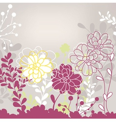 Abstract cute lovely floral card vector