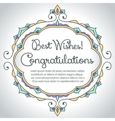Floral ornament design template congratulations vector