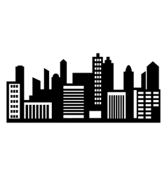 City panorama simple icon vector