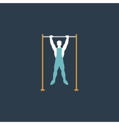 Horizontal bar and man vector