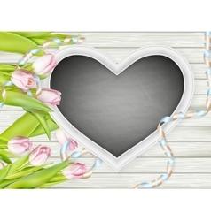 Frame in heart shape EPS 10 vector image