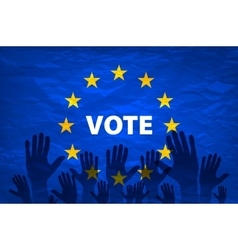 Euro vote flag vote for the european choice vector