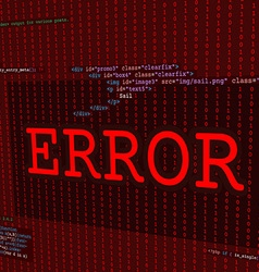 Web error screen vector
