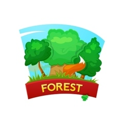 Forest concept design vector