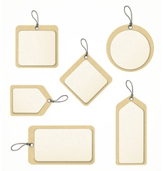 Recycled paper tag set vector