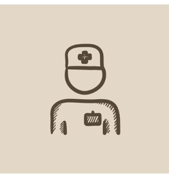Nurse sketch icon vector