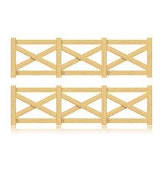 A set of wooden fence isolated vector