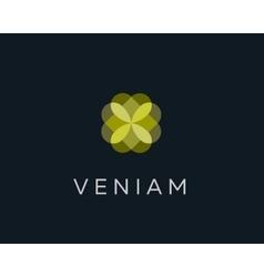 Abstract elegant flower logo icon design vector