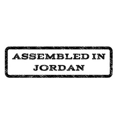 Assembled in jordan watermark stamp vector