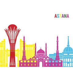 Astana skyline pop vector image