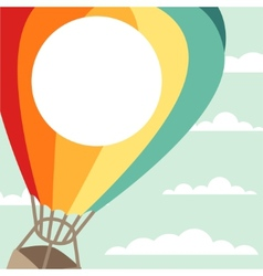 Background of hot air balloons and clouds vector