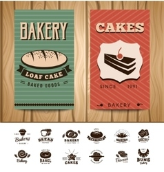 Bakery Visit Cards vector image