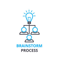brainstorm process concept outline icon linear vector image vector image