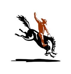 Bucking bronco horse vector