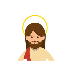 Cartoon jesus christ ico vector