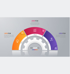 Circle chart template for infographics 3 vector