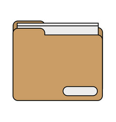 Colorful realistic image documents folder vector