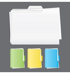 Colorful tabbed folder set vector image vector image
