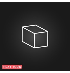 Cubes flat icon vector