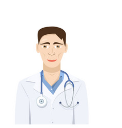 doctor isolated flat design vector image vector image