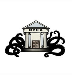 Evil bank vector image vector image