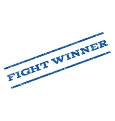 Fight winner watermark stamp vector