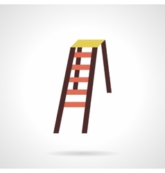 Folding color stepladder flat design icon vector image