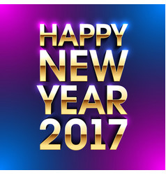 happy new year 2017 bright greeting card made of vector image