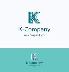 K company logo vector image vector image