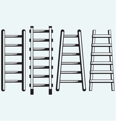 Ladder against the wall vector image vector image