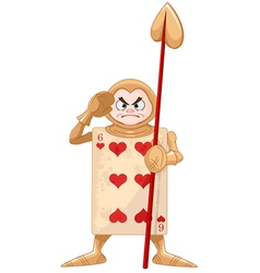 Queen of Hearts Guard vector image vector image