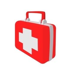 Red medicine chest cartoon icon vector image vector image