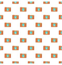 Retro camera pattern cartoon style vector