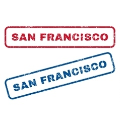 San francisco rubber stamps vector