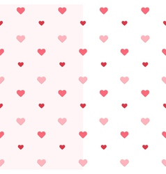 Seamless heart pattern two pink colours vector image vector image