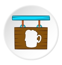 Sign beer bar icon cartoon style vector image vector image