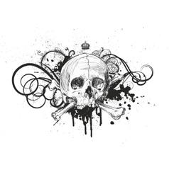 Sketch Skull Emblem vector image